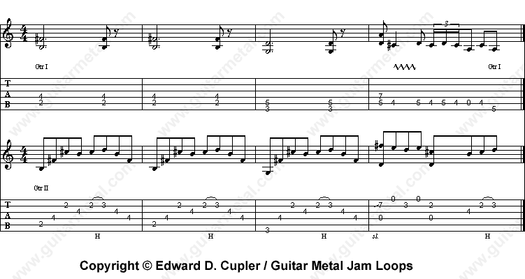 Power Ballad Jam Loop in B Minor (Blue Anger) - Guitar Metal